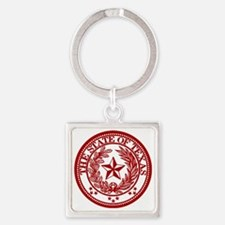 TexasRed Square Keychain