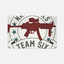 team six Rectangle Magnet