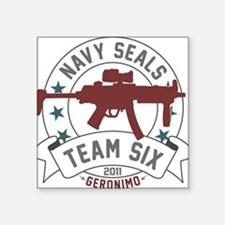 "team six Square Sticker 3"" x 3"""