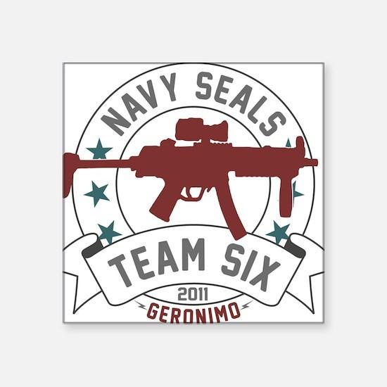 "team six Square Sticker 3"" x 3"""