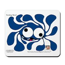 Funky Sun! In Denim Mousepad