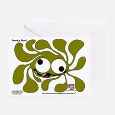 Funky Sun! In Olive Greeting Card
