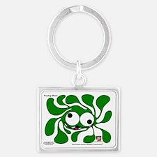 Funky Sun! In Celtic Green Landscape Keychain