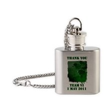 Thank You Team 6 (grass) Flask Necklace