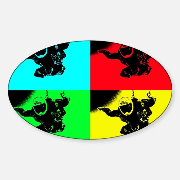 pop art rd tandem_edited-1 Sticker (Oval)