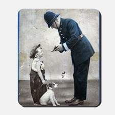 Old Police Print Mousepad