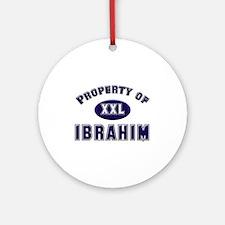 Property of ibrahim Ornament (Round)