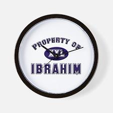 Property of ibrahim Wall Clock