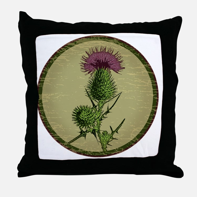 Thistleshirt Throw Pillow