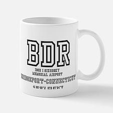 AIRPORT CODES - BDR - SIKORSKY, BRIDGEP Mug