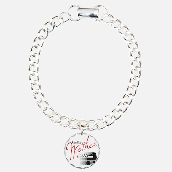 runlikemother2 Charm Bracelet, One Charm