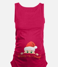 Peek a Boo Christmas Maternity Tank Top
