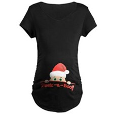Peek a Boo Christmas Maternity T-Shirt