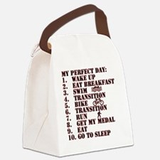 Triathalon.gif Canvas Lunch Bag