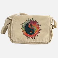 tie-dye-yinyang-T Messenger Bag