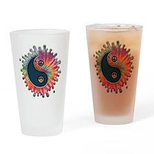 tie-dye-yinyang-T Drinking Glass
