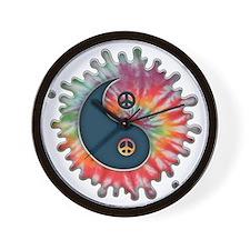tie-dye-yinyang-T Wall Clock