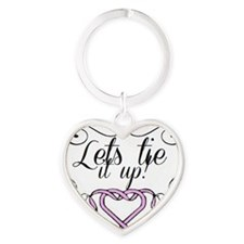Lets tie it up! Heart Keychain