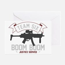 team six-boomboom1 Greeting Card