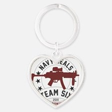 team six2 Heart Keychain