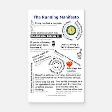 The Running Manifesto v2.0 -  Rectangle Car Magnet