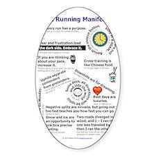 The Running Manifesto v2.0 - Mini P Decal