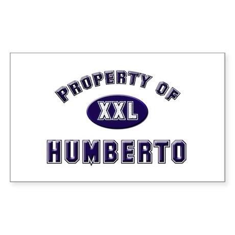 Property of humberto Rectangle Sticker