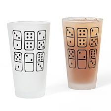 domino_set_outline Drinking Glass