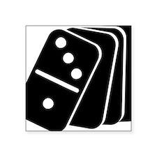 """domino_shuffle Square Sticker 3"""" x 3"""""""