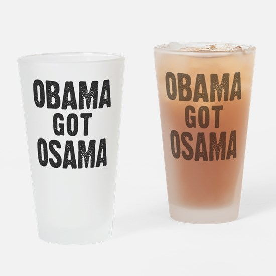 O Got OSAMA! Drinking Glass