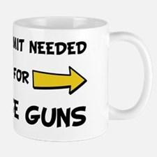 No Permit Needed Black Mug