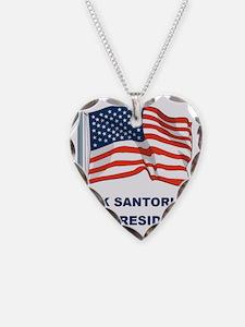 RICK SANTORUM FOR PRES FLAG Necklace
