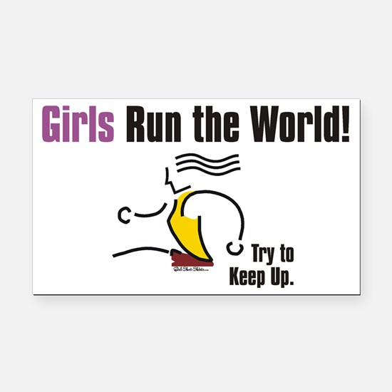 Girls run the world 1 Rectangle Car Magnet
