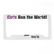 Girls run the world 1 License Plate Holder