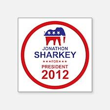 "2012_jonathon_sharkey_pres_ Square Sticker 3"" x 3"""
