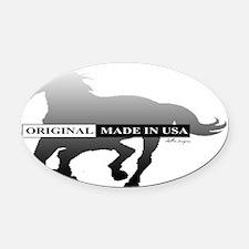 horseorig Oval Car Magnet