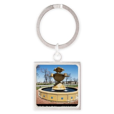 11Apr09_GagePark_026-POSTER Square Keychain