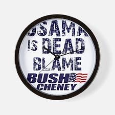 blame_bush_sht Wall Clock
