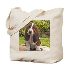 Basset puppy mousepad Tote Bag