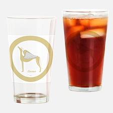 LEXUS ANGEL GREY gold rim round orn Drinking Glass