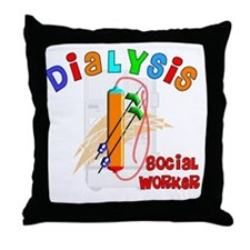 dialysis social worker 2011 Throw Pillow