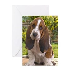 Basset puppy ipad Greeting Card