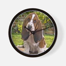 Basset puppy shirt Wall Clock