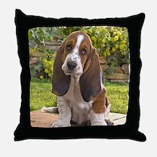 Basset puppy shirt Throw Pillow