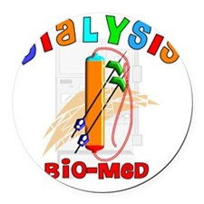 Dialysis biomed 2011 Round Car Magnet