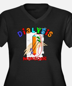Dialysis Man Women's Plus Size Dark V-Neck T-Shirt