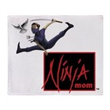 Ninja mom Fleece Blankets