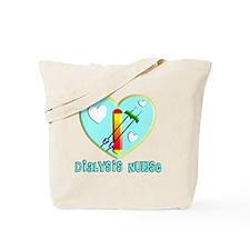 Dialysis nurse Blue Heart Tote Bag