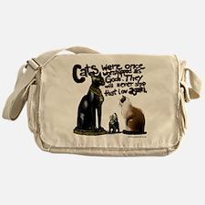 cats branded Messenger Bag