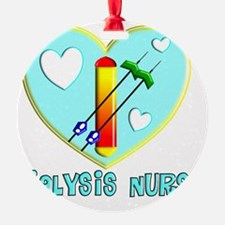 Dialysis nurse Blue Heart Ornament